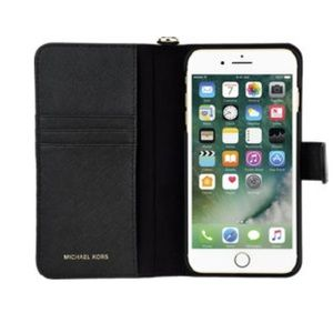 Michael Kors Leather iPhone Case 8plus/7plus black